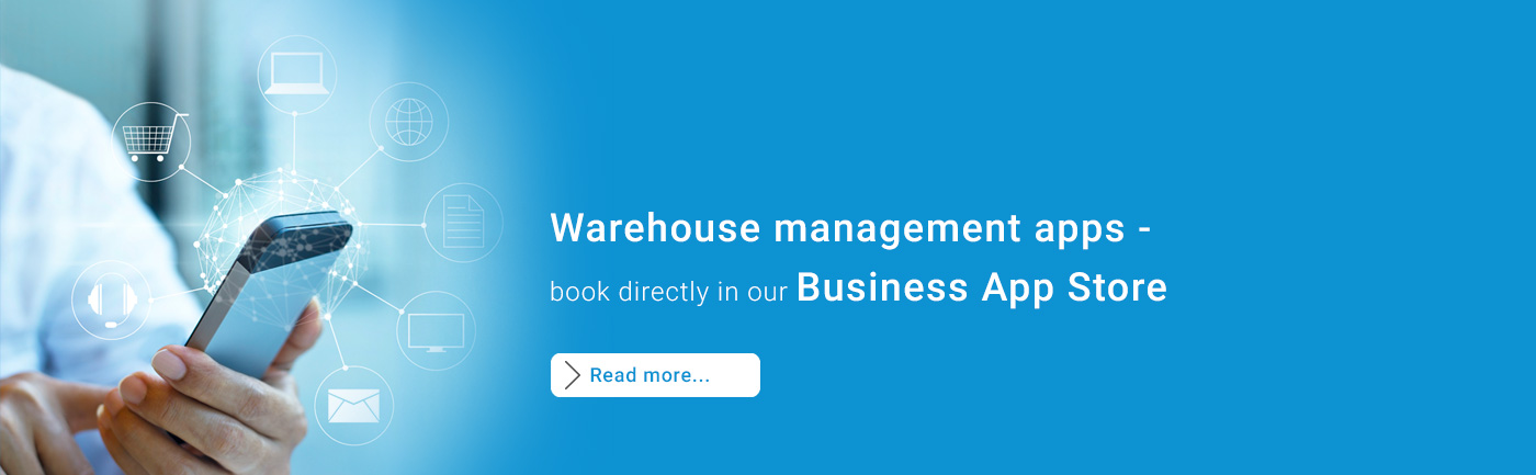 warehouse management apps - directly book in our Business App Store